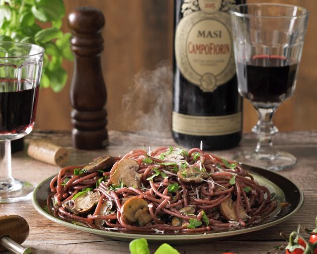 Kokkaa kuin Italiassa: Juopunut punaviinispagetti